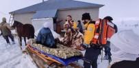 ACIL SERVIS - Ambulansa Kadar Kızakla Taşıyıp Hastaneye Yetiştirdiler