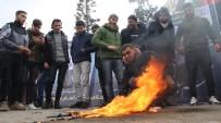 PROTESTO - Gazze'de ABD Ve İsrail Bayrakları Yakıldı