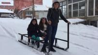 Karlıova'da Çocuklar, Karda Kızakla Eğlendi