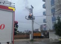 Kızıltepe'de Aşırı Yüklenmeden Trafodan Alevler Yükseldi
