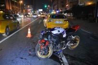 Motosiklet Taksiye Çarptı Açıklaması 1 Yaralı