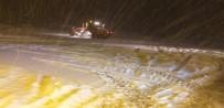 Eğribel Geçidinde Yoğun Kar Yağışı Devam Ediyor