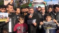 PROTESTO - Hatay'da Suriyeliler İdlib'deki Saldırıları Protesto Etti