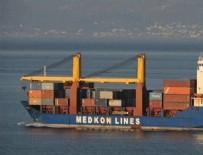 ÇANAKKALE BOĞAZı - Fırtınaya yakalanan gemideki 6 konteyner denize düştü