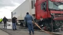 ŞİDDETLİ RÜZGAR - İki Tır Çarpıştı, Kapıkule-İstanbul Yolu 3 Saat Trafiğe Kapandı