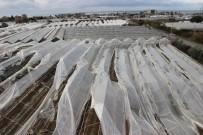 Alanya'da Şiddetli Rüzgar Ve Hortum Seraları Yerle Bir Etti