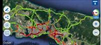 YAĞIŞLI HAVA - İstanbul'da Trafik Yoğunluğu Yüzde 80'Lere Ulaştı