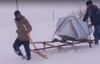 Bingöl'de Arızalı Bulaşık Makinesi, Karda Kızakla Taşındı