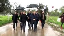 SAĞANAK YAĞIŞ - KKTC Başbakanı Tatar, Yağışlardan Etkilenen Bölgelerde İnceleme Yaptı