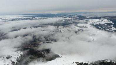 Sinop'ta Kar Yağışı Havadan Görüntülendi