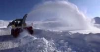 DURANKAYA - 2 Bin 800 Rakımda Yapılan Karla Mücadele Çalışmaları Havadan Görüntülendi