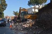 Çökmek Üzere Olan İstinat Duvarına Belediye Freni