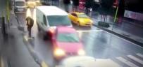 YAYA GEÇİDİ - (Özel) İnanılmaz Kazada Ölümden Saniyelerle Böyle Kurtuldu