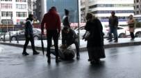 (Özel) Mecidiyeköy'de Tenis Raketi Ve Makasla Birbirlerine Saldırdılar