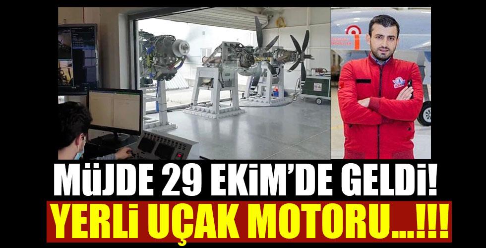 29 Ekim'de müjdeyi verdi! Yerli uçak motoru...!!!