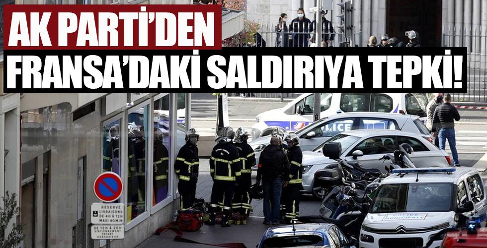 AK Parti'den Fransa'daki saldırıya tepki