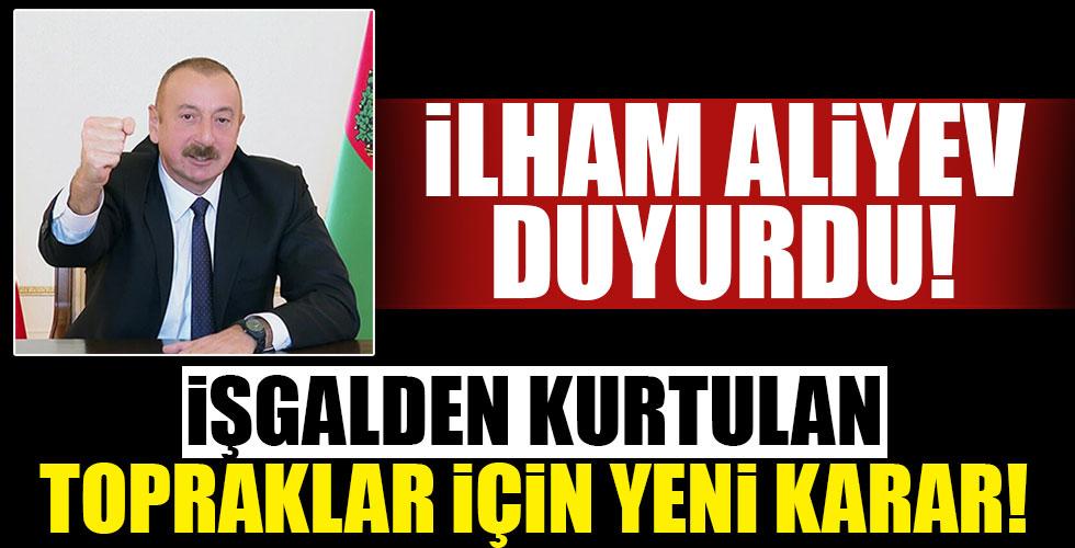 Aliyev duyurdu! O karar imzalandı!