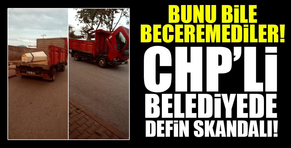 CHP'li Belediyede büyük rezillik!