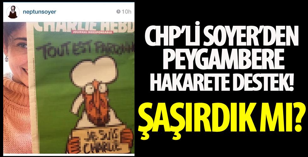 CHP'li Tunç Soyer'in eşi Neptün Soyer'in Charlie Hebdo'nun skandal karikatürüne destek verdiği ortaya çıktı