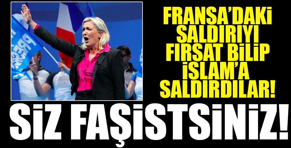 Fransa'daki saldırıyı fırsat bilip İslam'a saldırdılar!