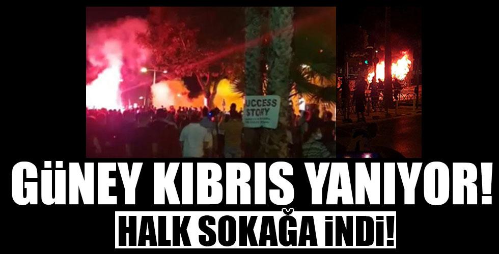 Güney Kıbrıs yanıyor!