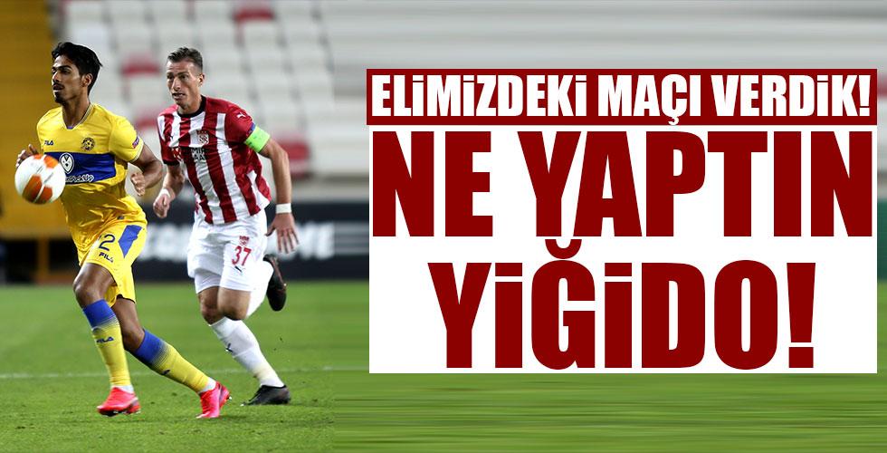 Sivasspor evinde mağlup!