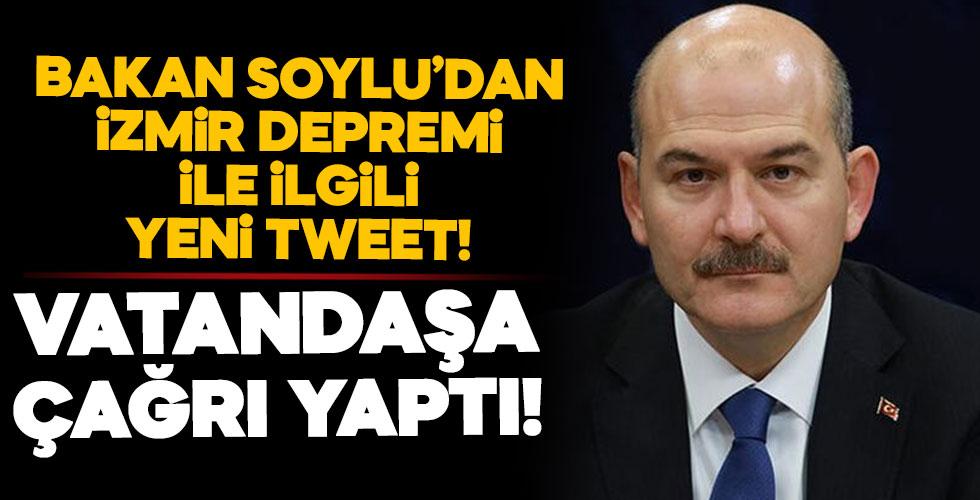 Bakan Soylu'dan yeni tweet! Vatandaşa çağrı yaptı!