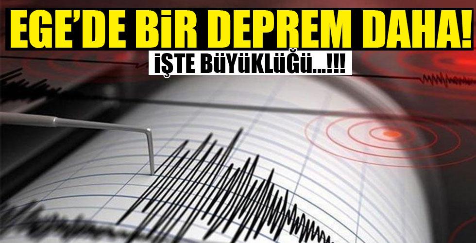 Ege Denizi'nde bir deprem daha