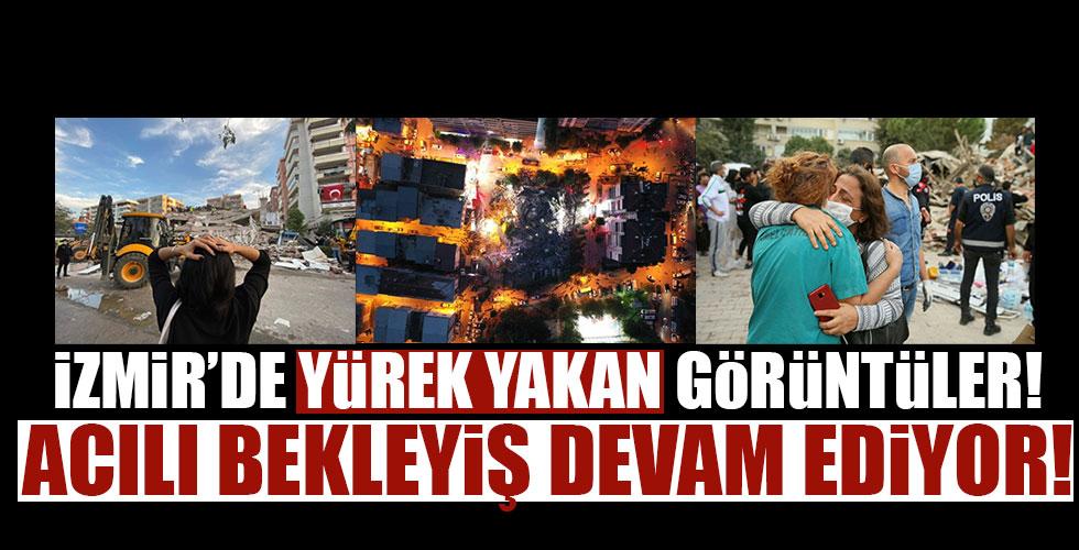 İzmir'deki depremden yürek yakan kareler!
