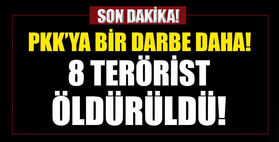 PKK'ya bir darbe daha! 8 terörist öldürüldü