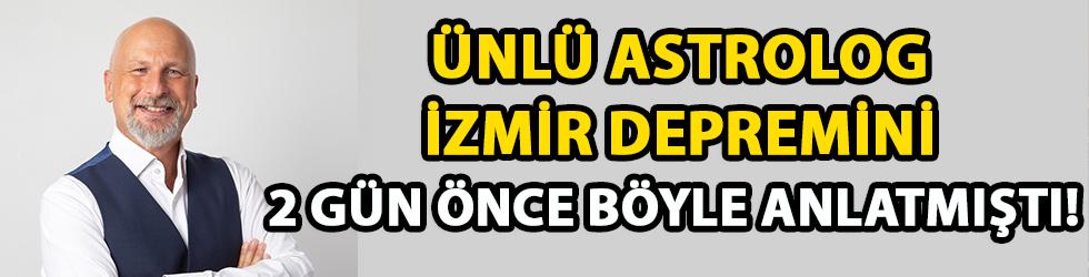Ünlü astrolog İzmir depremini 2 gün önce böyle anlatmıştı!