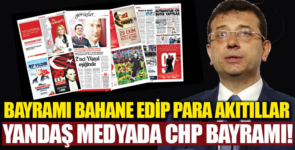 Yandaş medyada CHP bayramı