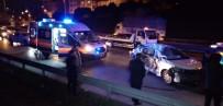 Cip İle Otomobil Çarpıştı 3 Kişi Yaralandı