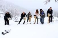 KOÇAK - Aksaray'da Yaban Hayvanları İçin Doğaya Yem Bırakıldı