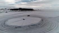 TÜRKER ÖKSÜZ - Donan Çıldır Gölü Üzerinde Otomobil Sürüşü Eğitimi