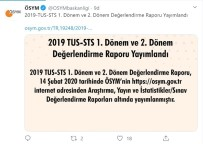 SÖZLEŞMELİ - ÖSYM, 2019-TUS Ve STS Değerlendirme Raporlarını Yayımladı