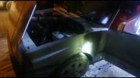 Park Halinde Yanan Otomobile İtfaiye Müdahale Etti