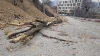 Heyelan Tehlikesinin Bulunduğu Yolda Çalışmalar Sürüyor
