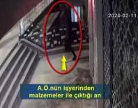 KAMERA - İş Yerinden Hırsızlık Yapan Şahıs Yakalandı
