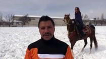 ERGAN DAĞI - Kayakçıların 'Atlı Board' Keyfi