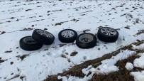 Çalınan Otomobil Lastikleri Arazide Bulundu