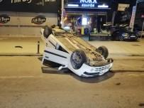 BAĞDAT - Bağdat Caddesi'nde Bir Otomobil Takla Attı