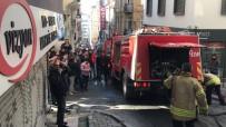 GALATA - Galata'da Korku Dolu Anlar, Patlayan Cam Aşağıya Uçtu