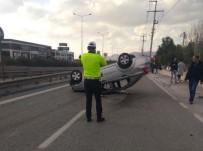 DİREKSİYON - İzmir'de Asker Uğurlamasından Dönen Araç Takla Attı Açıklaması 1 Ölü, 4 Yaralı