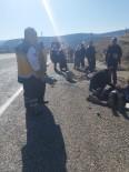 DİREKSİYON - Kamyonet Şarampole Yuvarlandı Açıklaması 4 Yaralı
