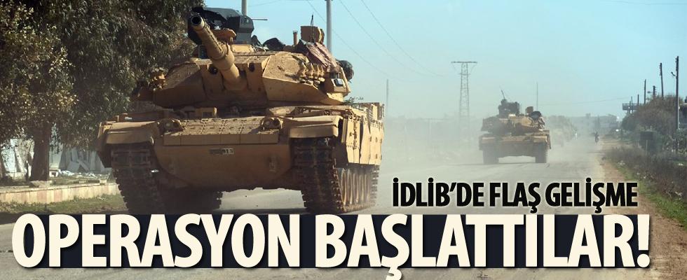 İdlib'de flaş gelişme! Operasyon başlattılar...