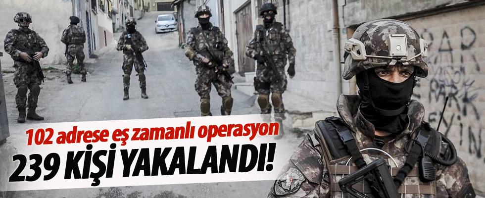 Büyük operasyon: 239 kişi yakalandı