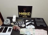 KURUSIKI TABANCA - Milas'ta Uyuşturucu, Silah Ve Para Ele Geçirildi