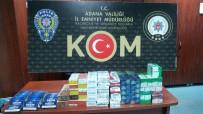KAÇAK SİGARA - Adana'da 4 Bin 410 Paket Kaçak Sigara Ele Geçirildi