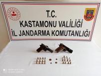 KURUSIKI TABANCA - 19 Ayrı Suçtan Aranan Cezaevi Firarisi Kovalamaca Sonucu Yakalandı